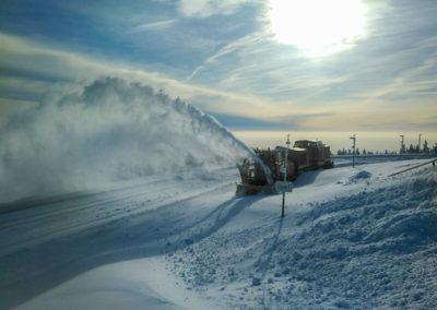 Winterdienst am Brockenbahnhof